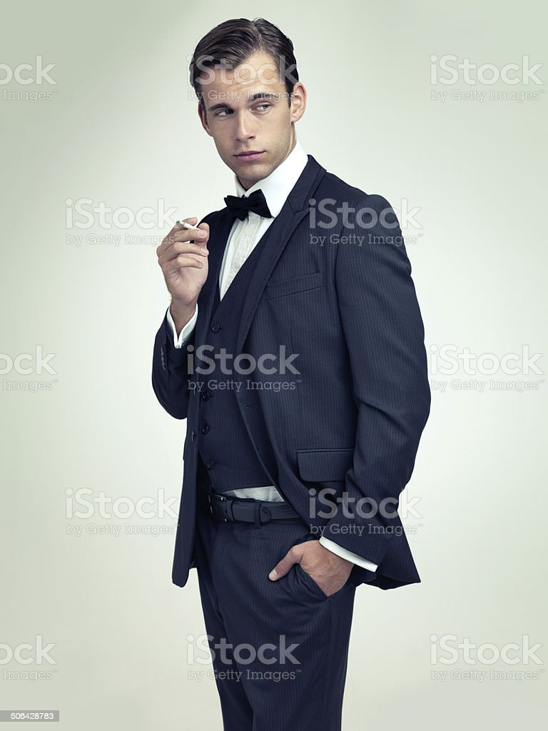 Well-tailored suits is to women what lingerie is to men stock photo