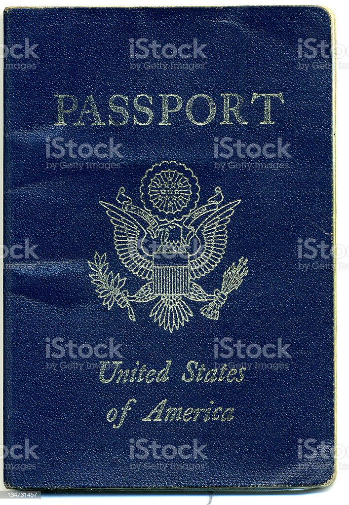 Well-Traveled Passport stock photo