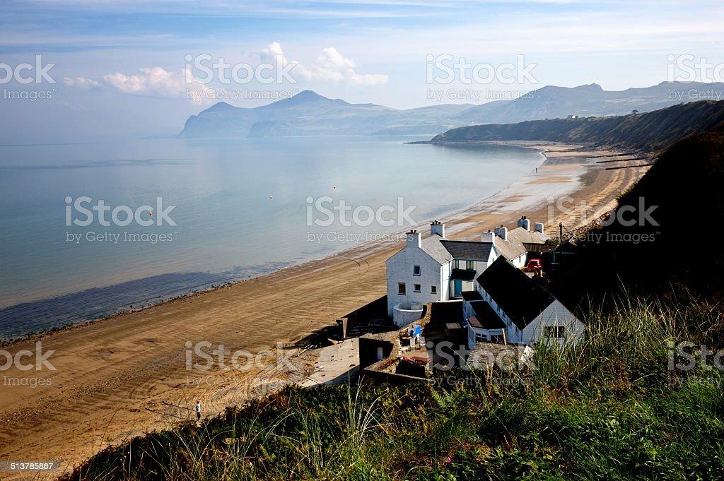Welsh beach scene on the Lleyn Peninsula stock photo