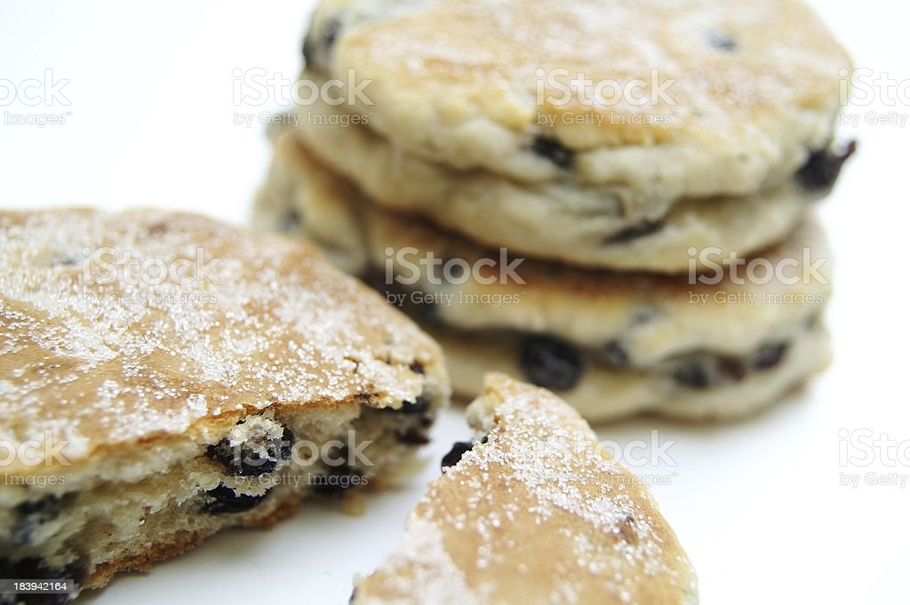 welsh cakes on white background stock photo