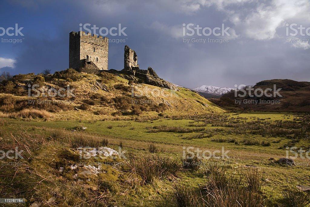 Welsh Castle stock photo