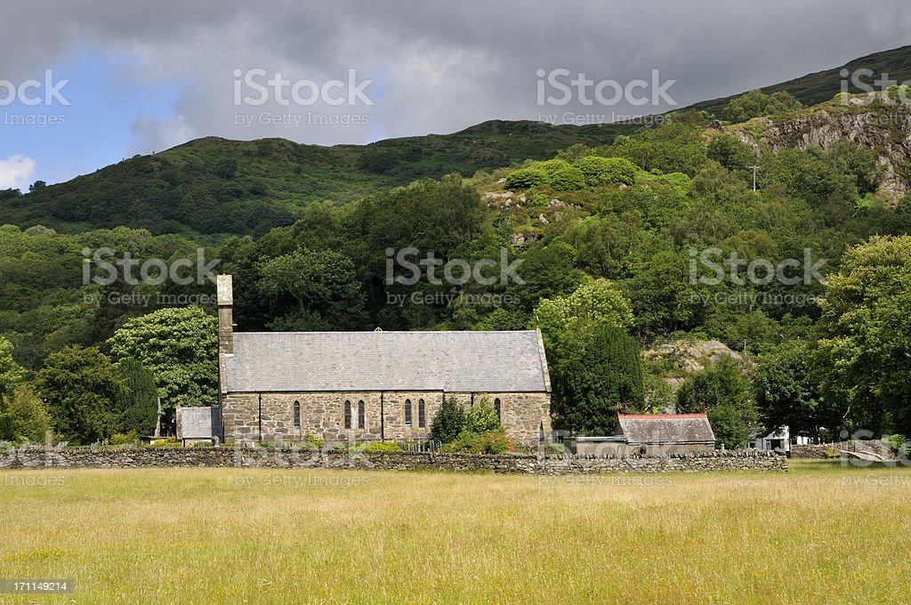 Welsh Church stock photo