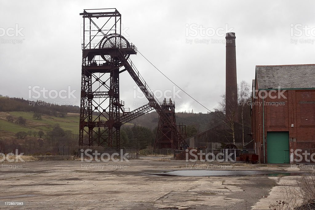 Welsh coalmine pithead g royalty-free stock photo