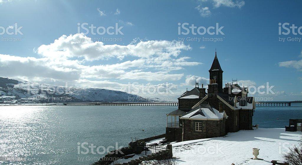 Welsh Coastline in Winter royalty-free stock photo