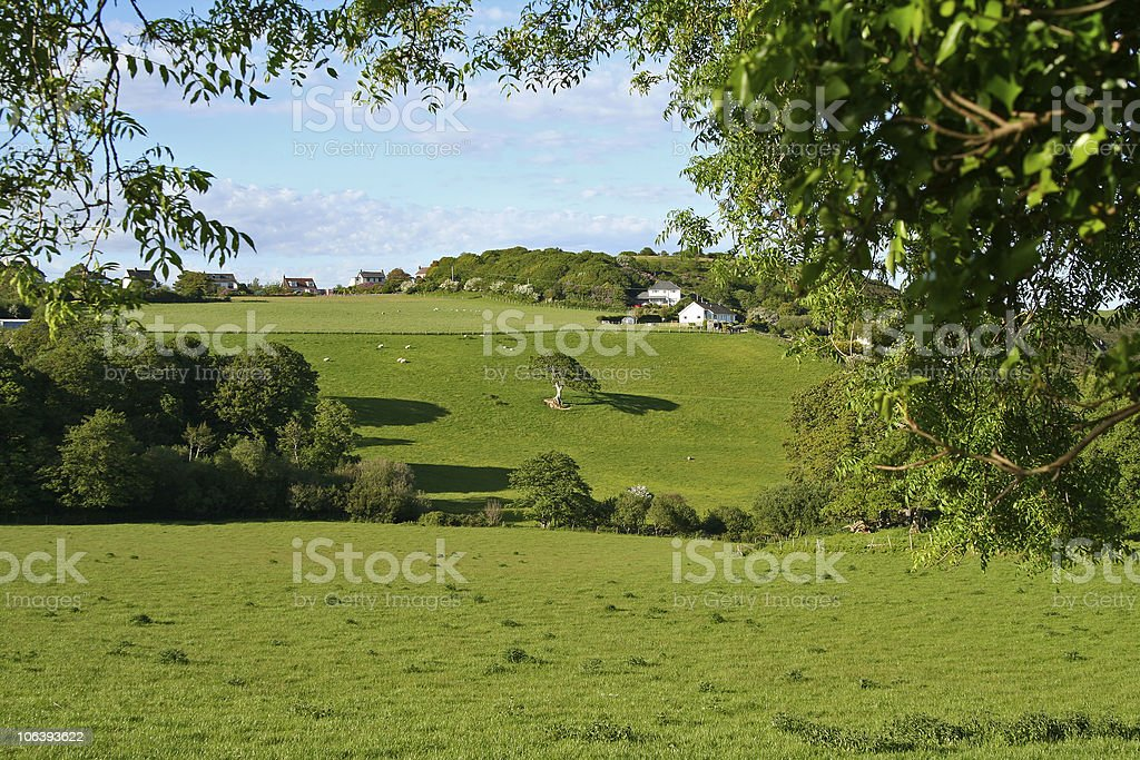 welsh countryside royalty-free stock photo
