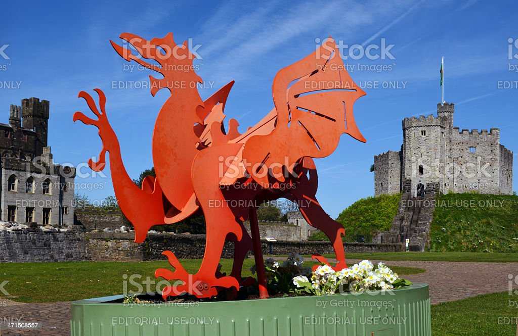 Welsh Dragon royalty-free stock photo