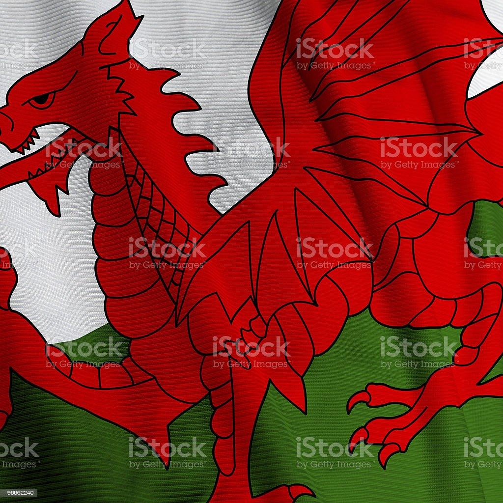 Welsh Flag Closeup royalty-free stock photo