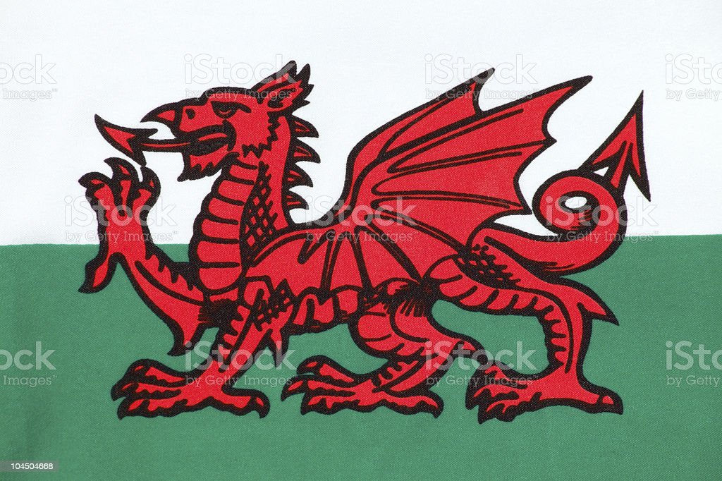 Welsh Flag royalty-free stock photo