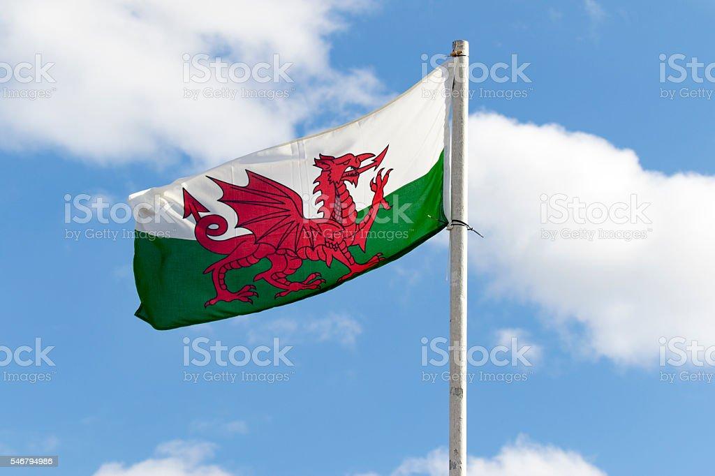 welsh flag stock photo