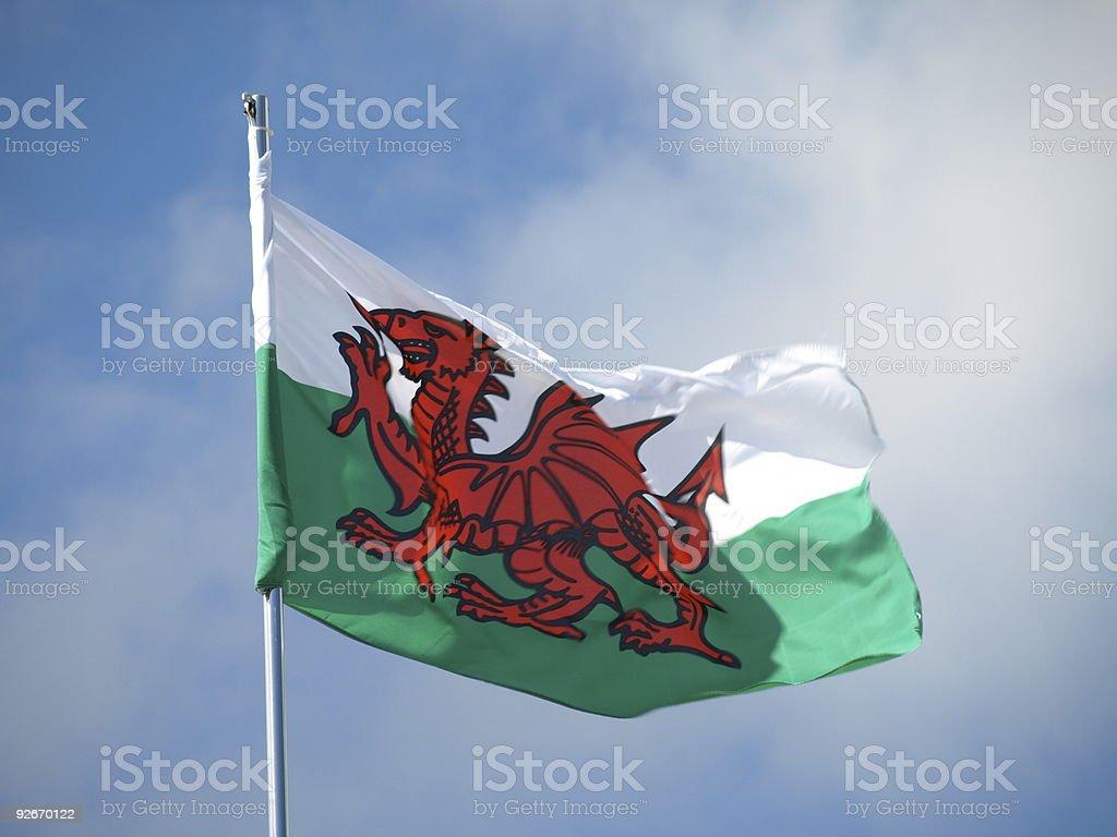 Welsh flag. stock photo