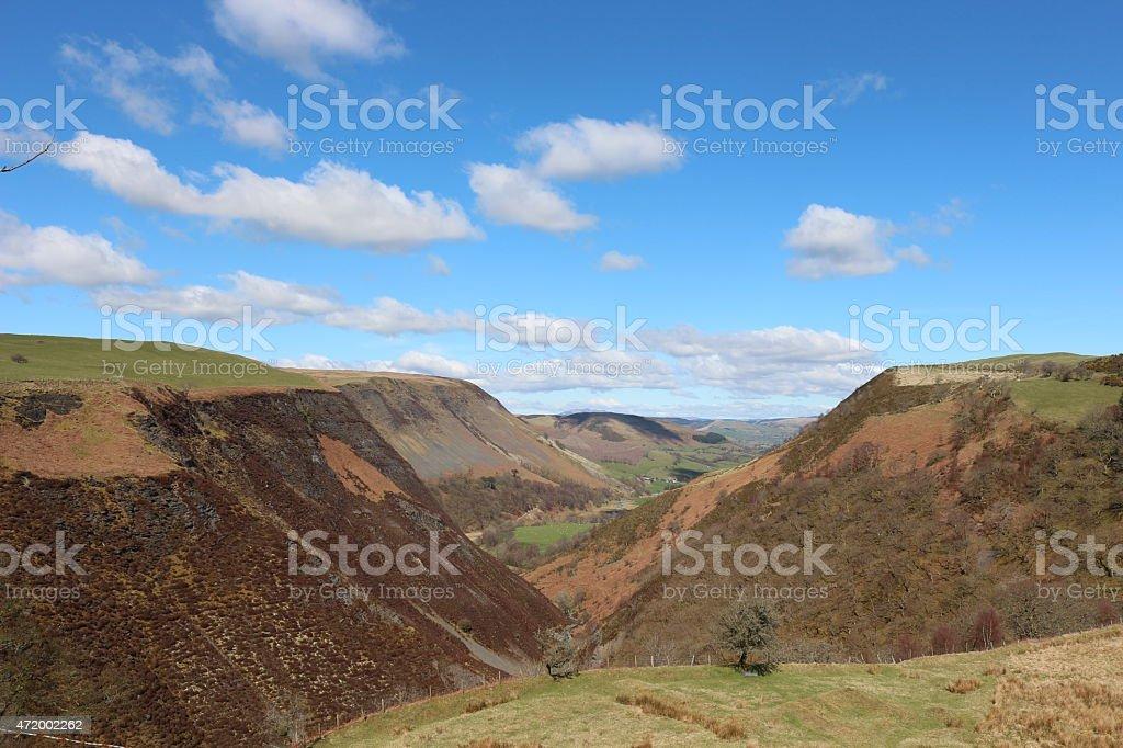 Welsh hills. stock photo