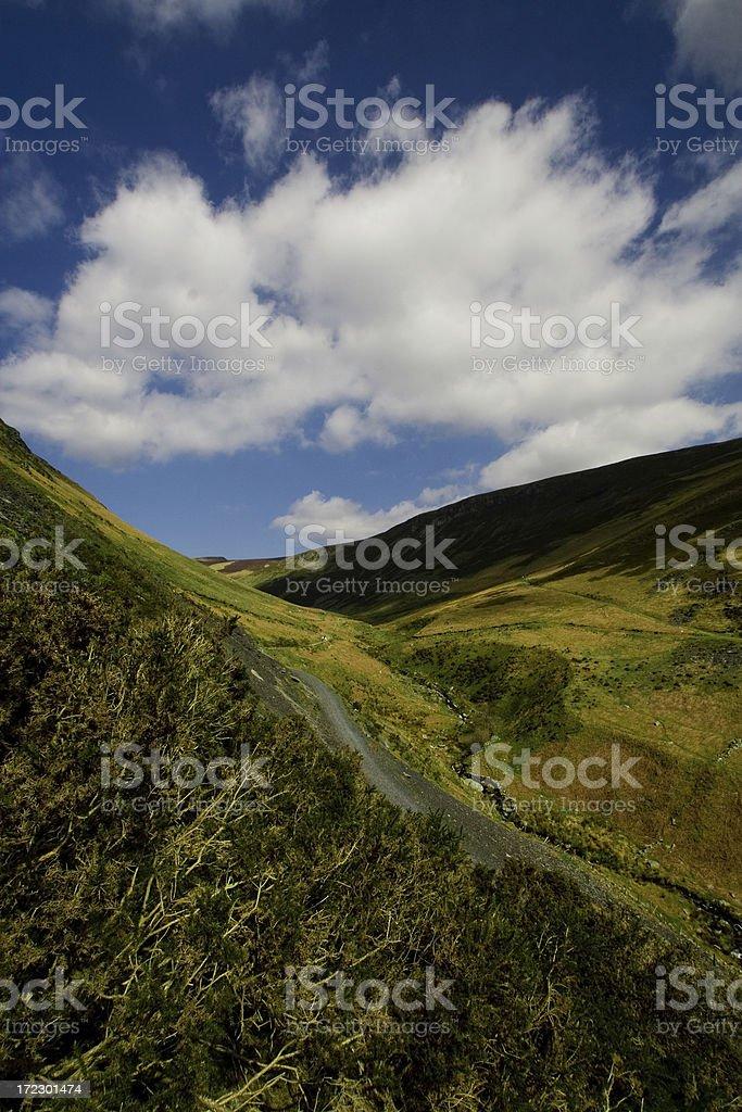 Welsh hillside scenic royalty-free stock photo