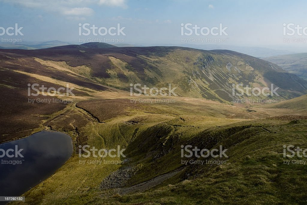 Welsh Mountains and lake royalty-free stock photo