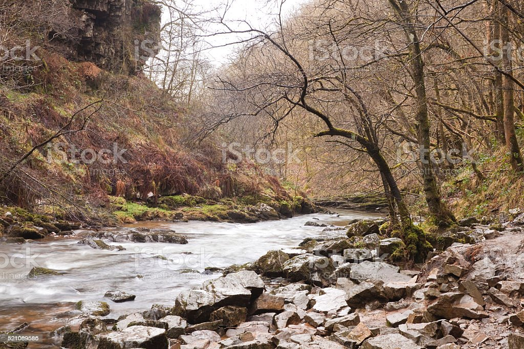 Welsh River. stock photo