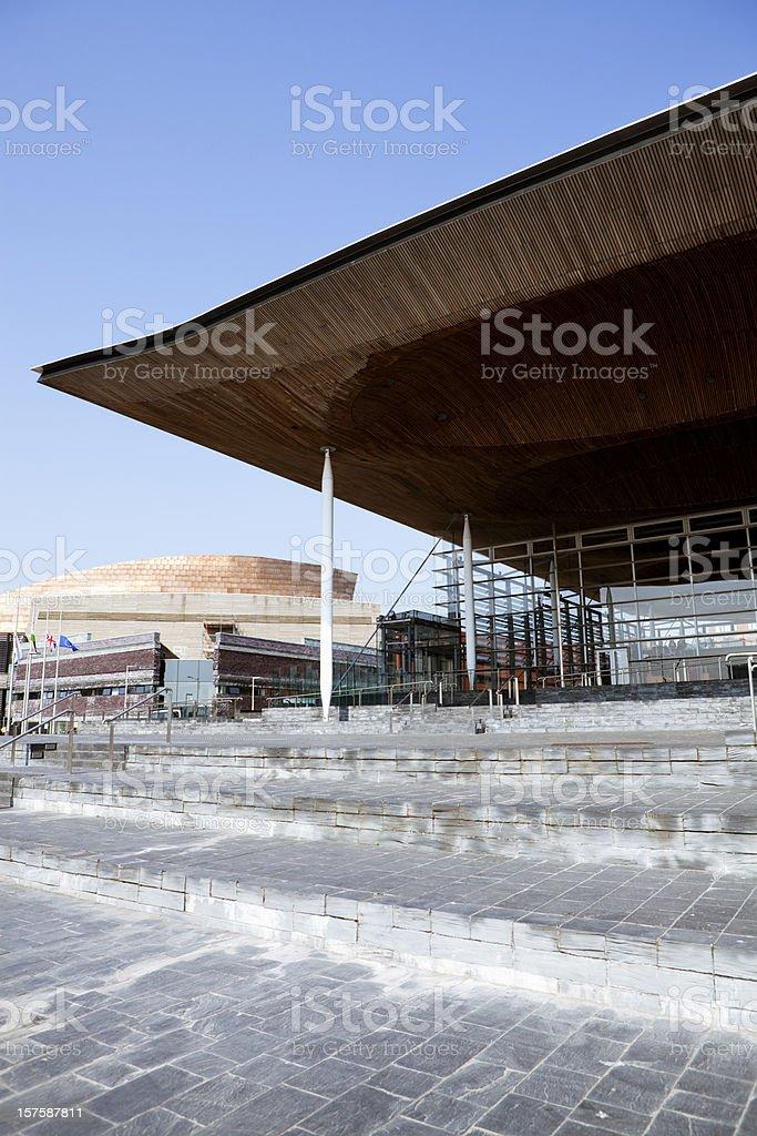 Welsh Senedd royalty-free stock photo
