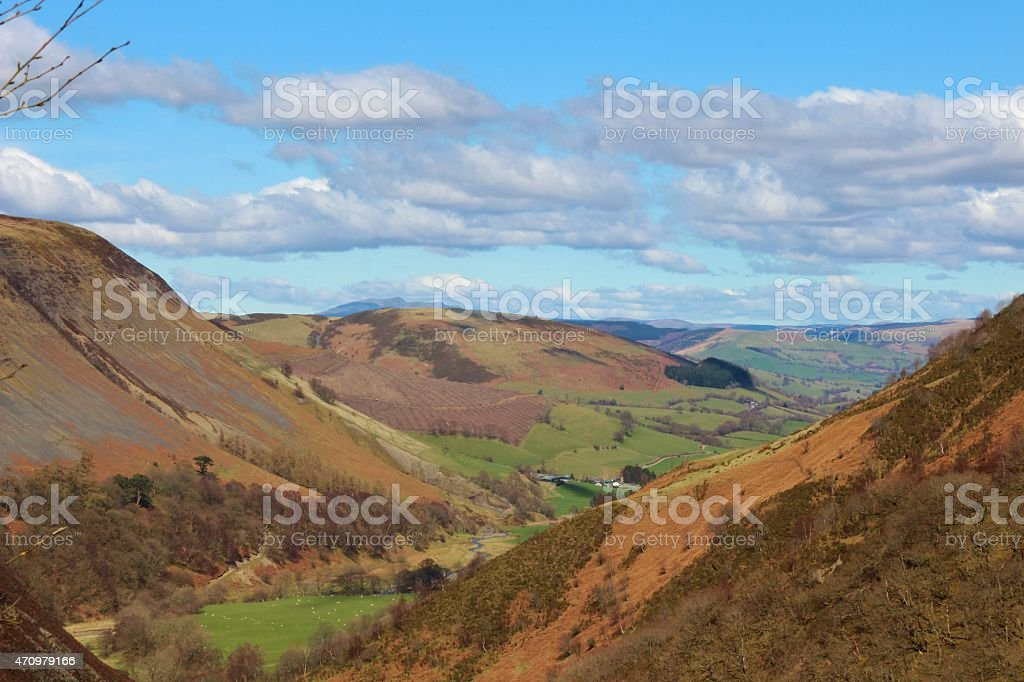 Welsh valley stock photo