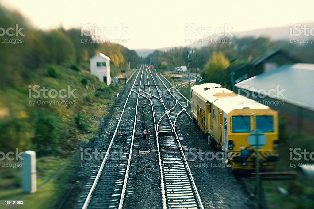 Welsh Valley Train Line stock photo