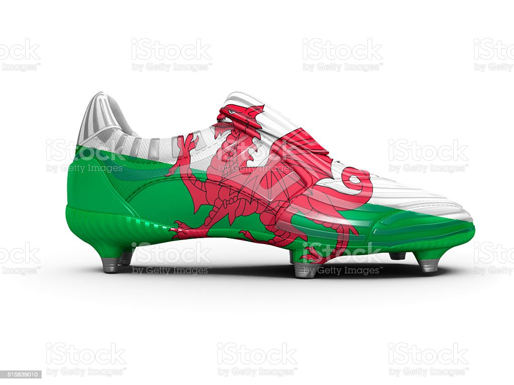 Welsh Wales Football Boot stock photo