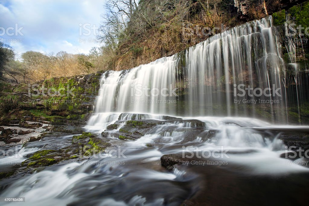 Welsh waterfall stock photo