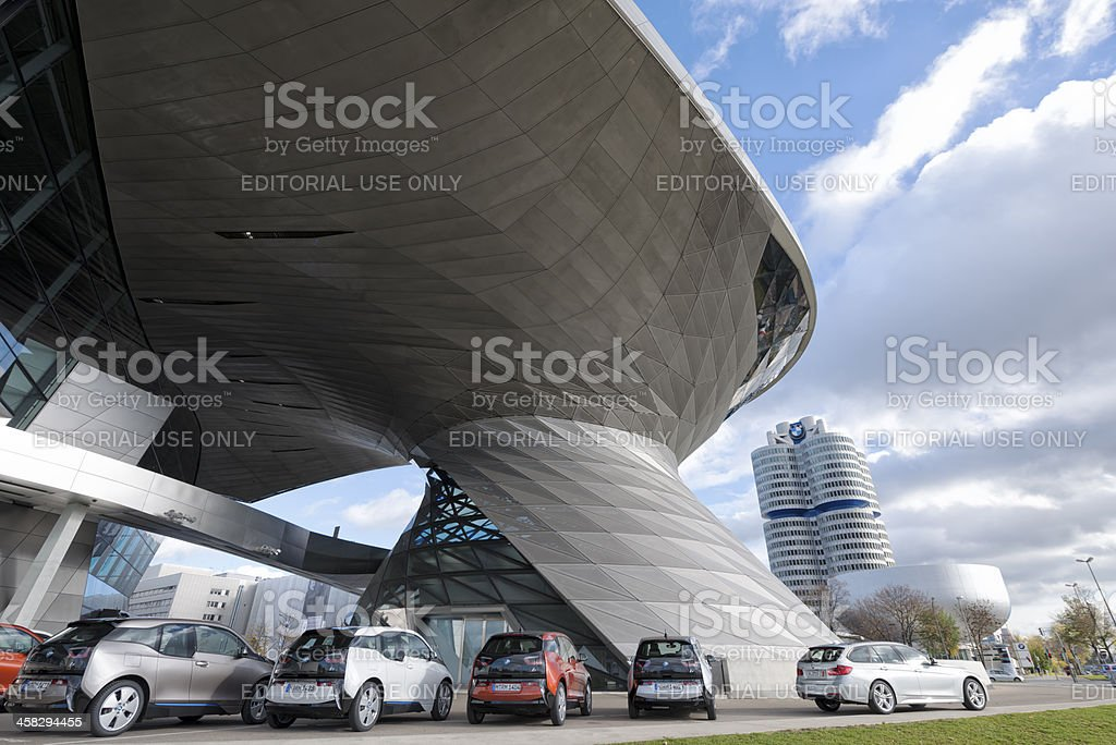 BMW Welt, Tower and Museum, Munich i3 stock photo