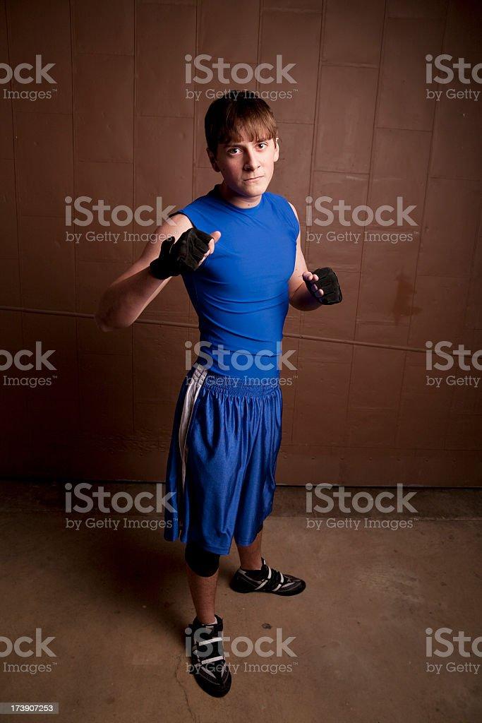 Welterweight Boxer or Wrestler stock photo