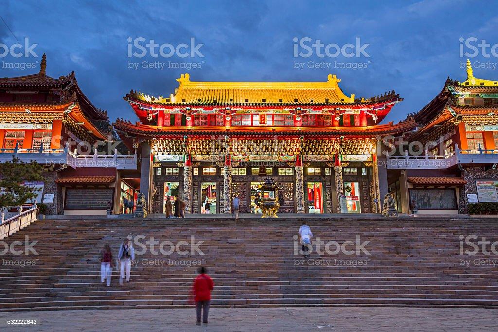 Wen wu Temple aat dusk stock photo