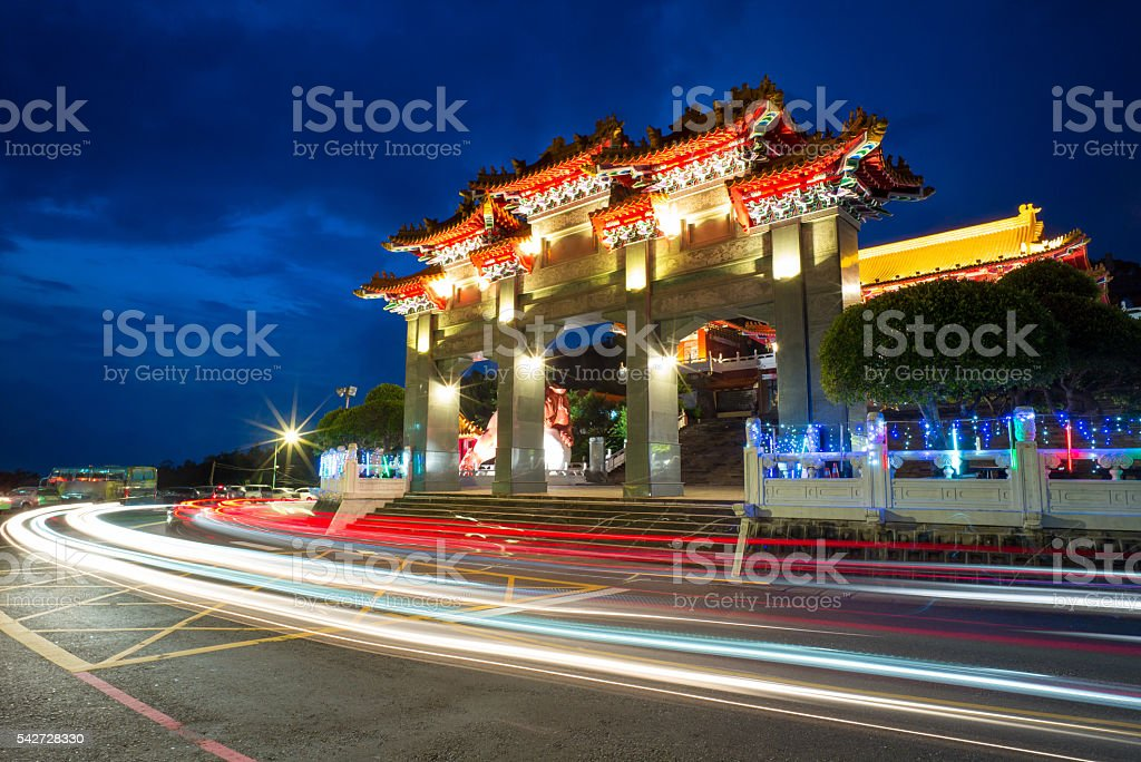 wen wu temple stock photo