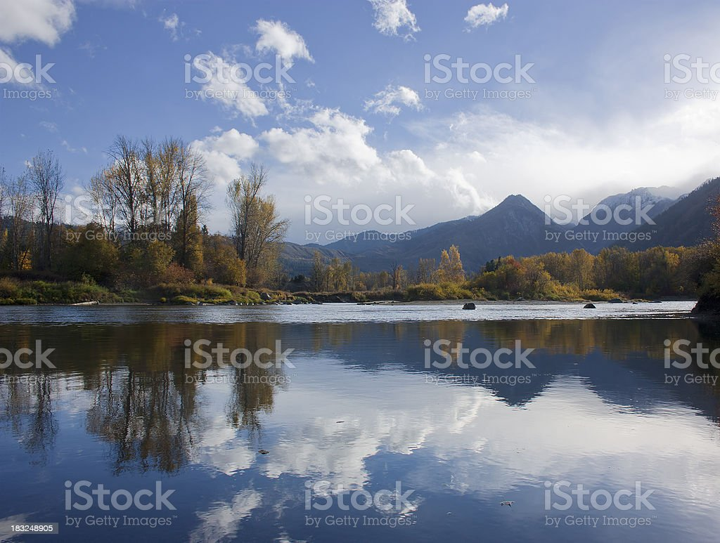 Wenatchee River at Leavenworth stock photo
