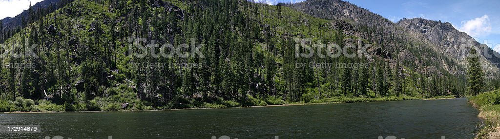 Wenatchee River Panoramic stock photo