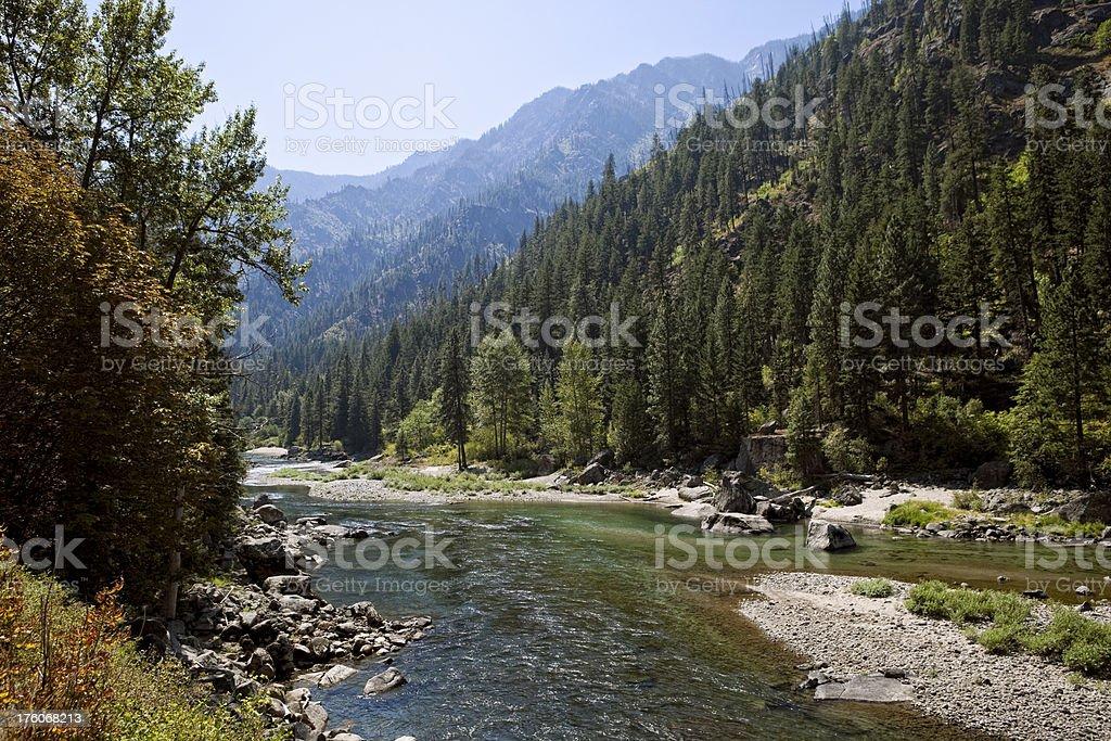 Wenatchee River stock photo