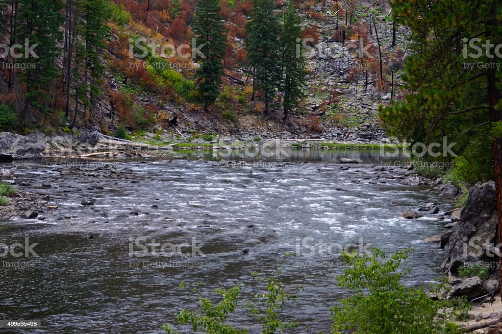 Wenatchee River stock photo