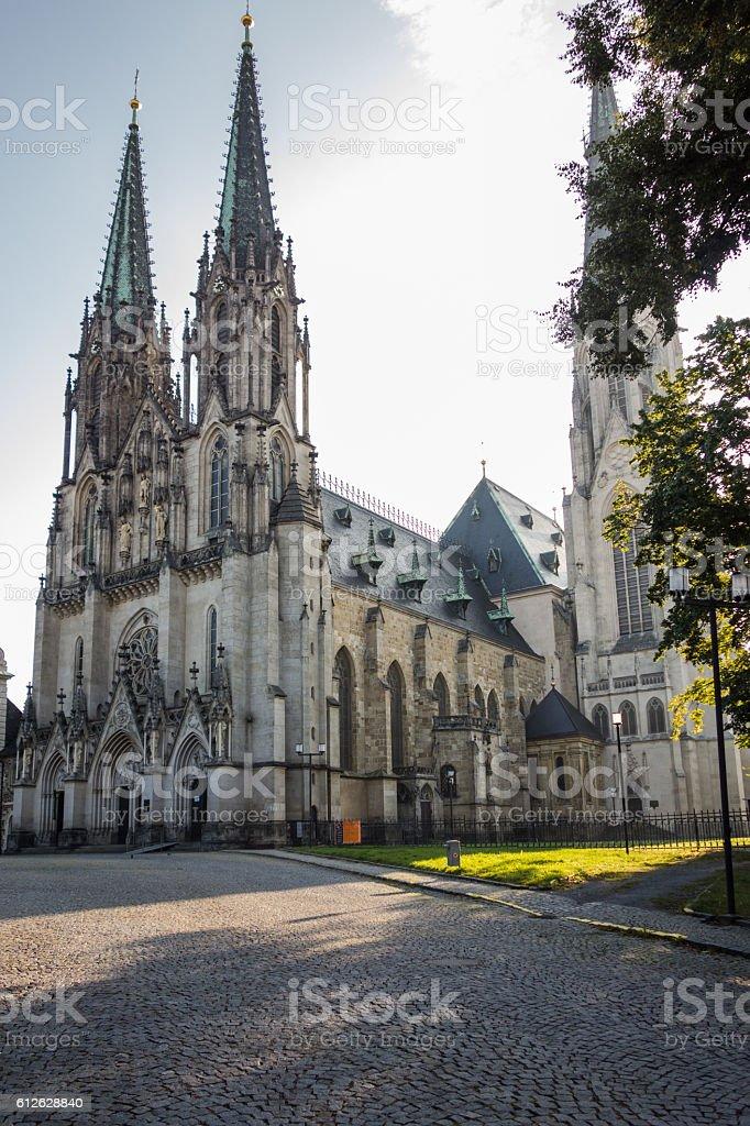 ST Wenceslas Cathedral, Olomouc. stock photo