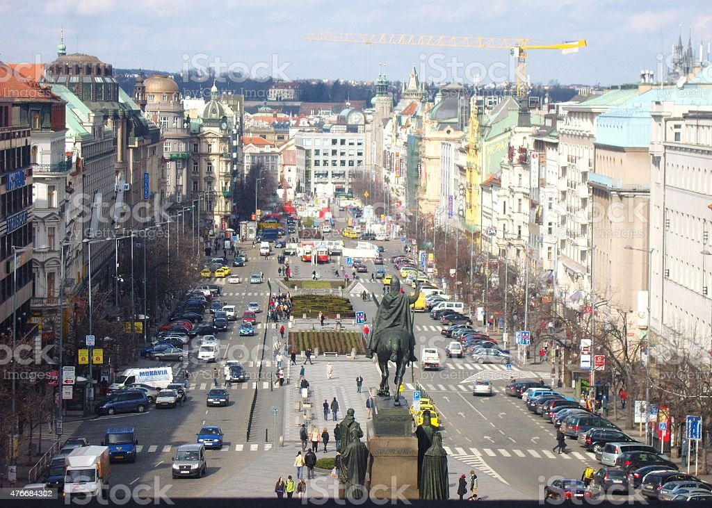 Wenceslas Square, from the South East stock photo