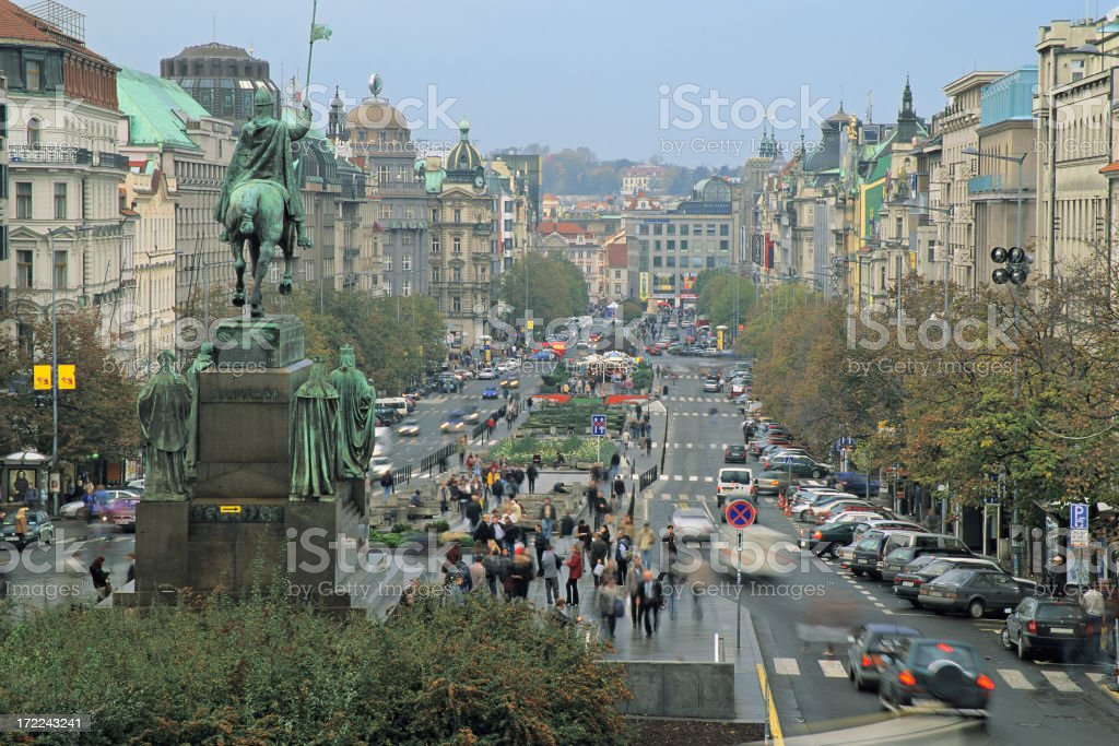 Wenceslas Square stock photo