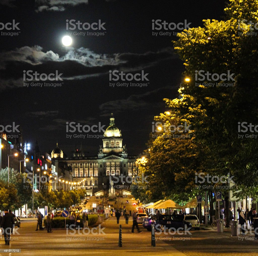 Plaza de Wenceslao stock photo