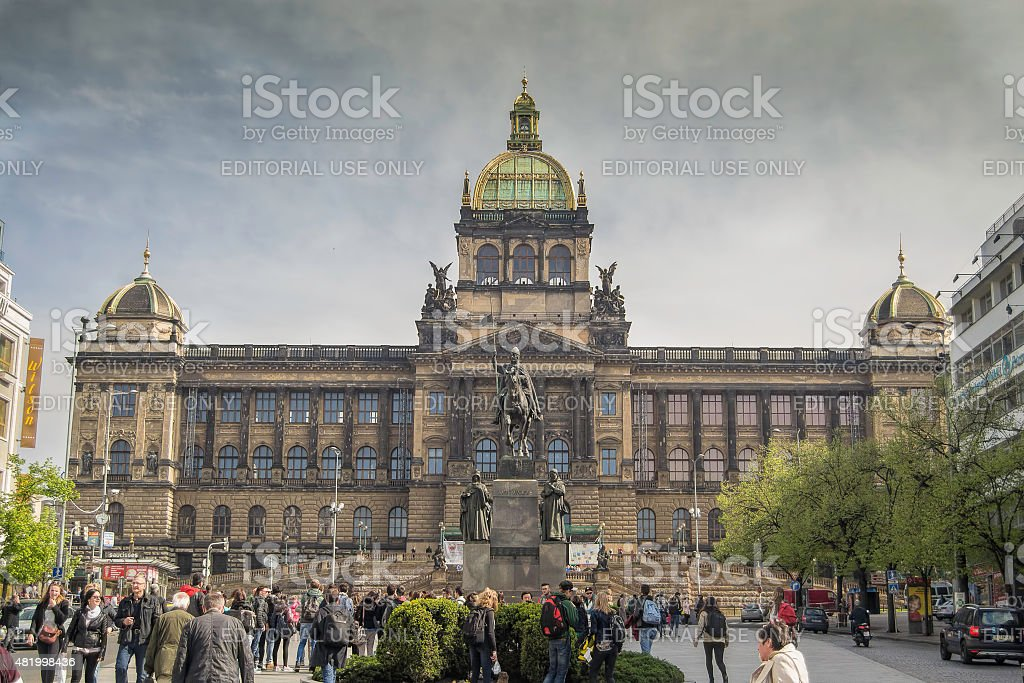 Wenceslas square, Prague stock photo