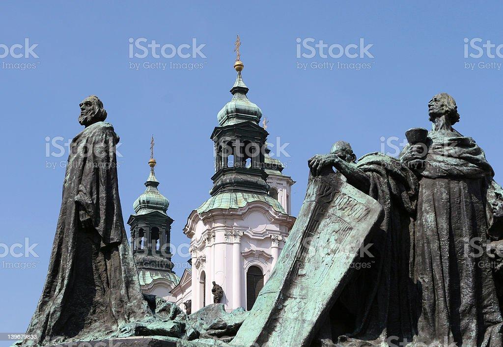 Wenceslas Statue, Prague royalty-free stock photo