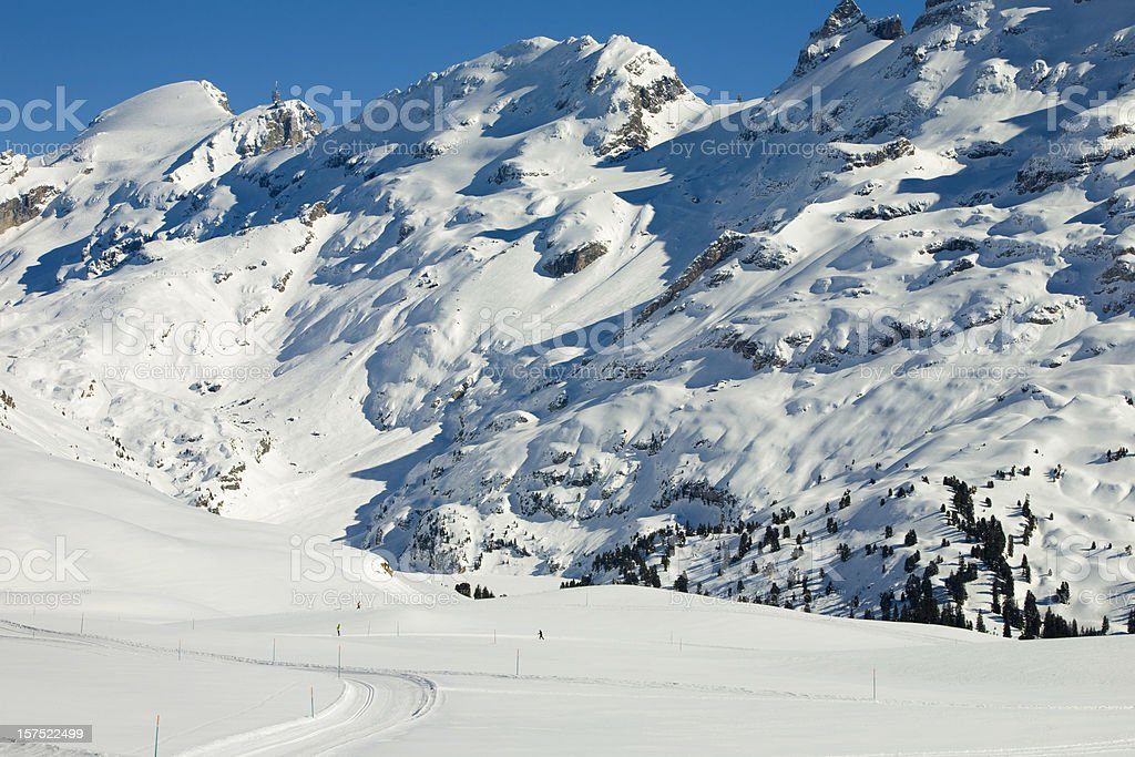 Wendenstoecke mit Titlis stock photo