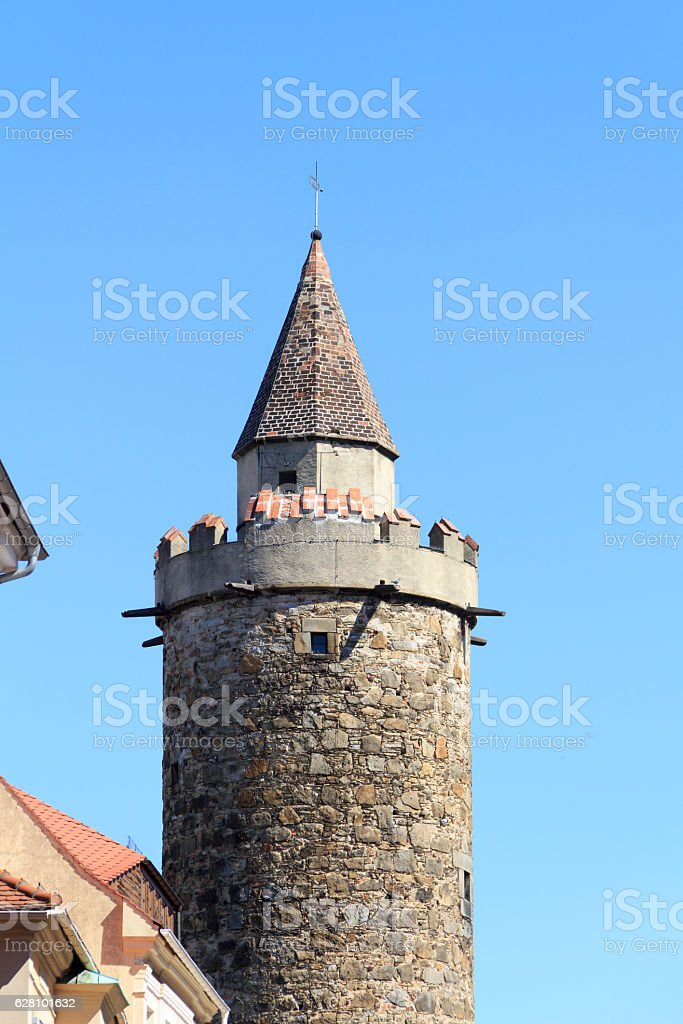 Wendischer Turm in Bautzen stock photo