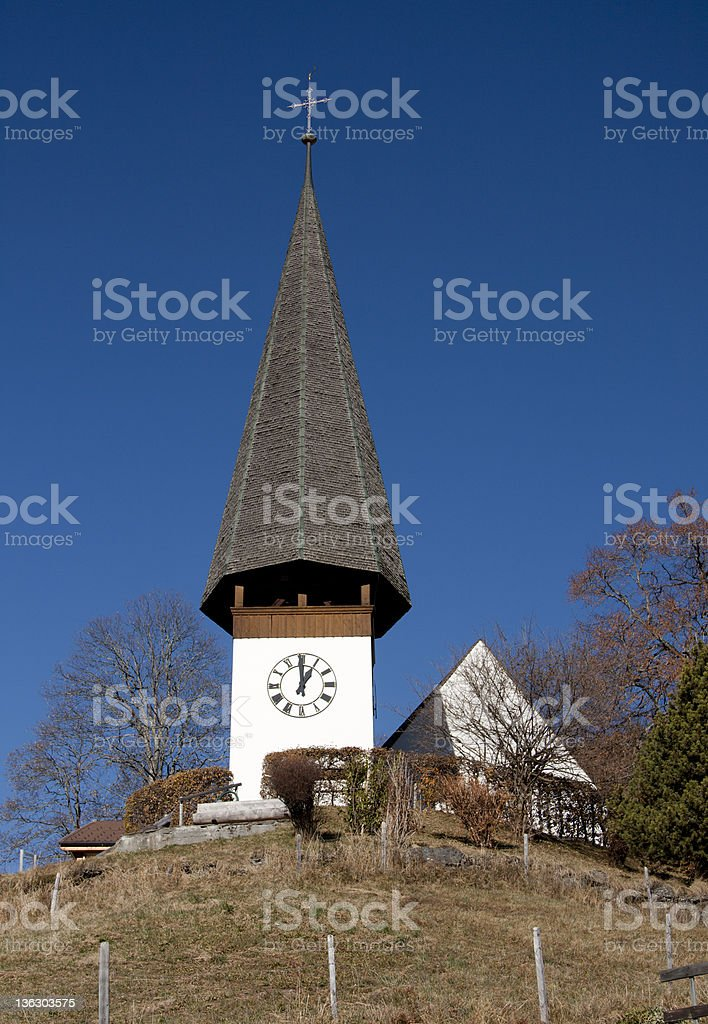Wengen Church royalty-free stock photo