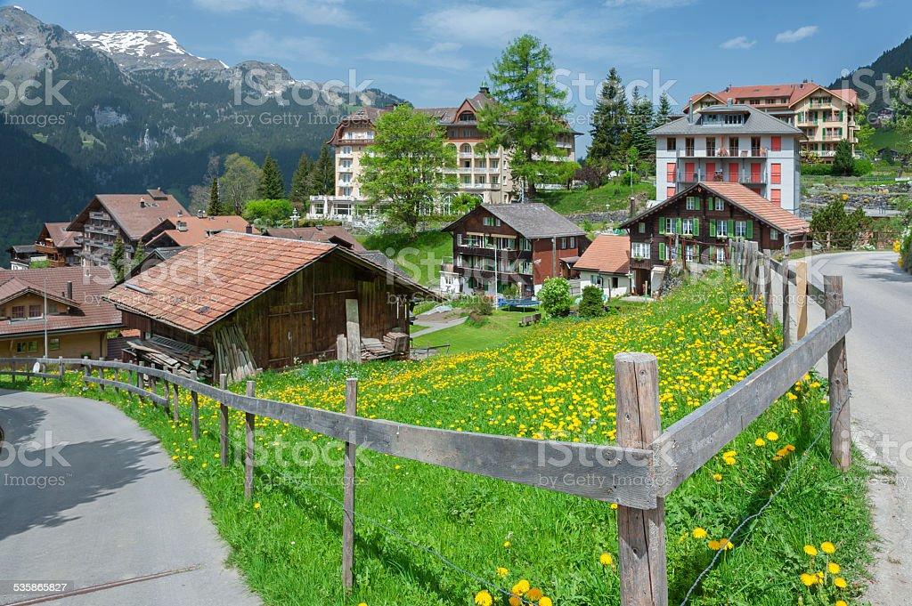 Wengen, Swiss stock photo