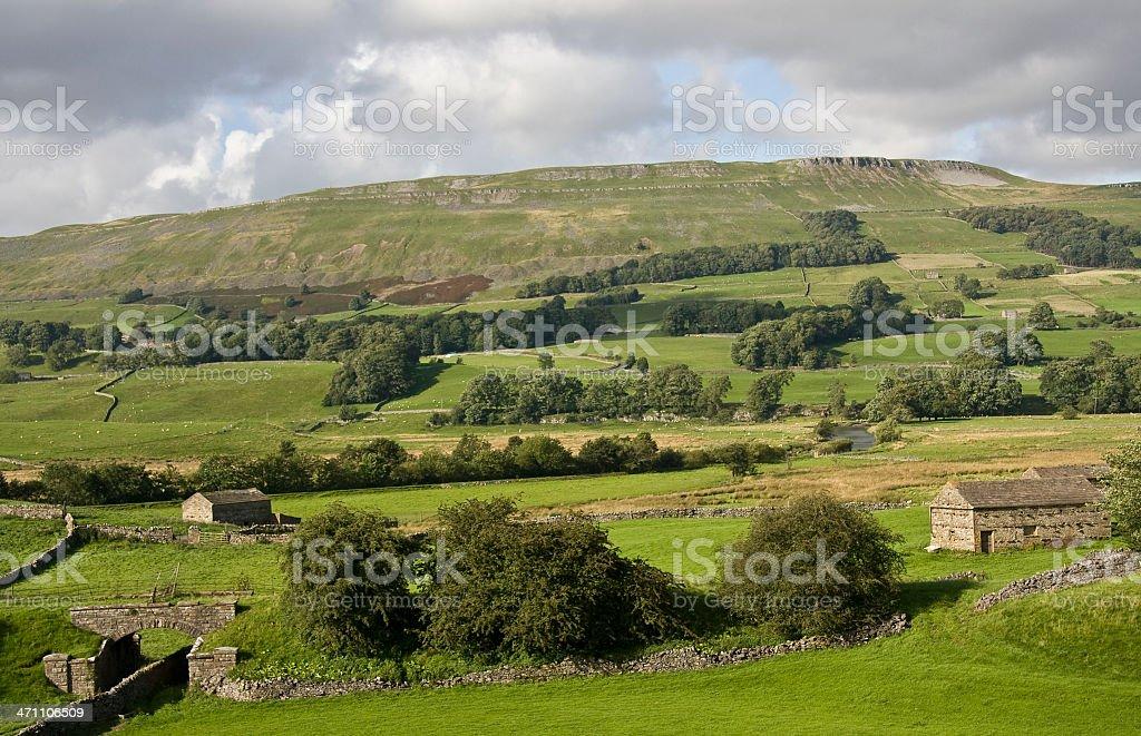 Wensleydale Landscape stock photo
