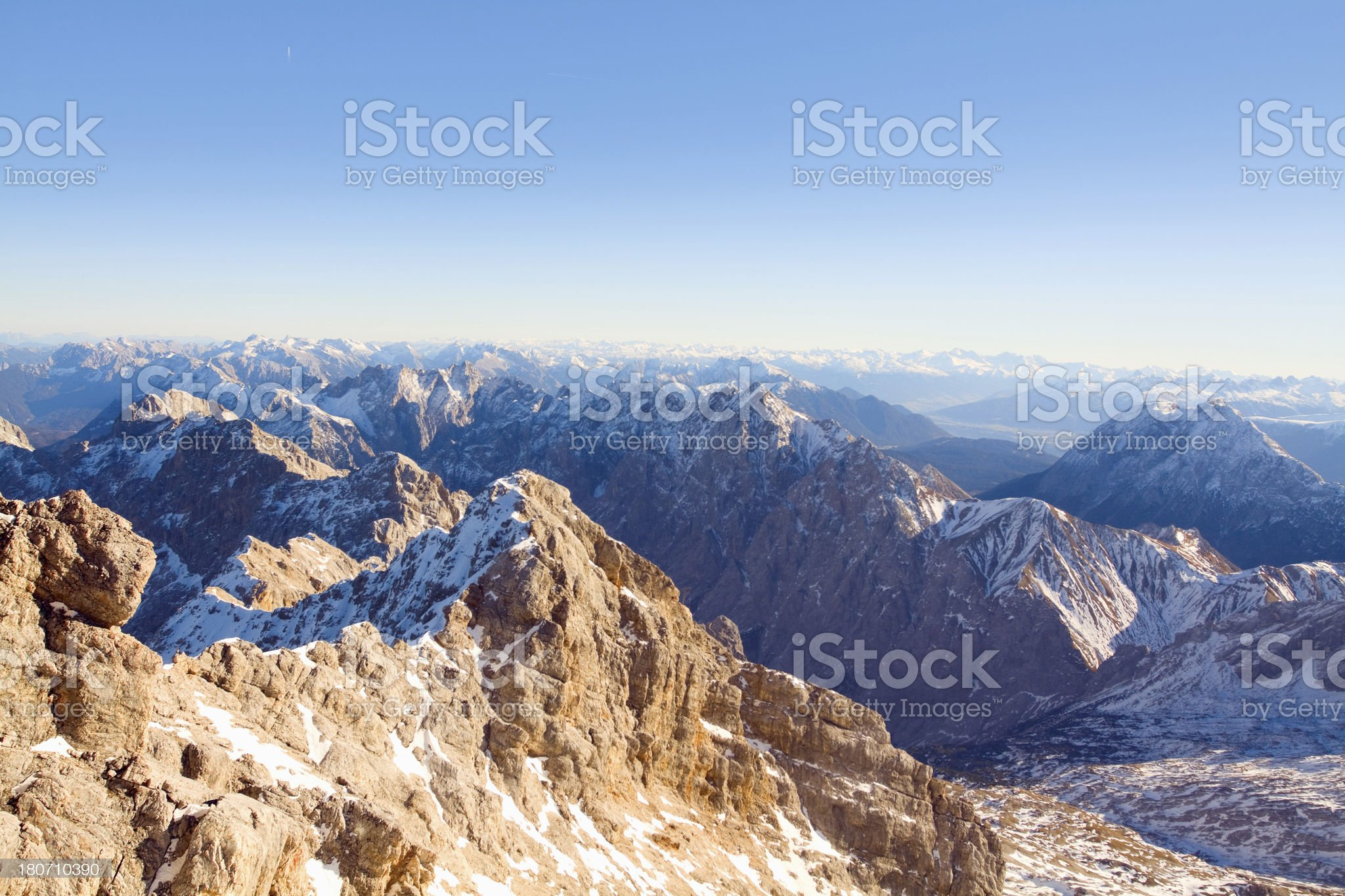 Werdenfelser panorama royalty-free stock photo