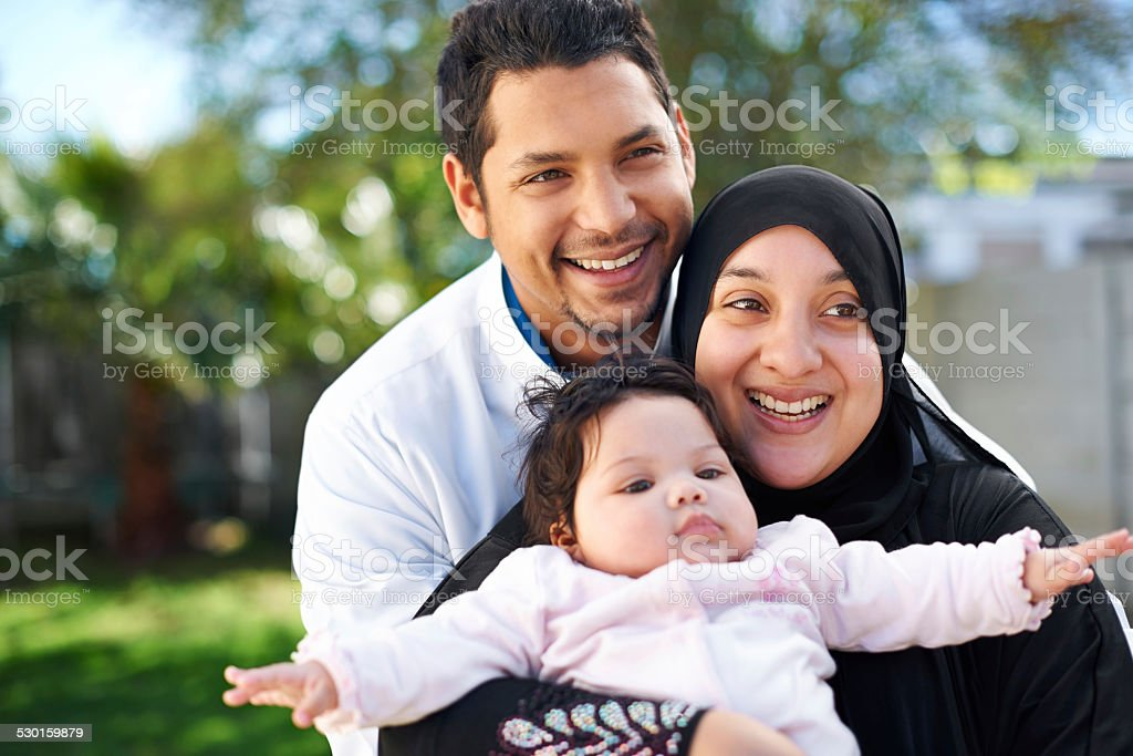 We're a blessed family stock photo