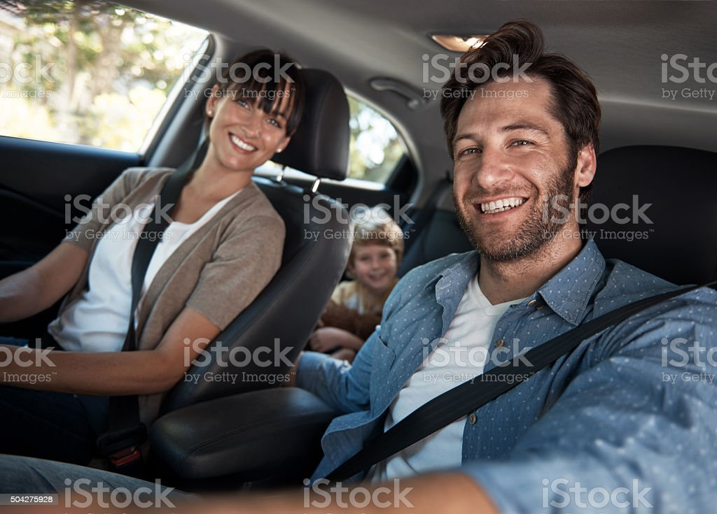 We're a family that loves to be on the road stock photo