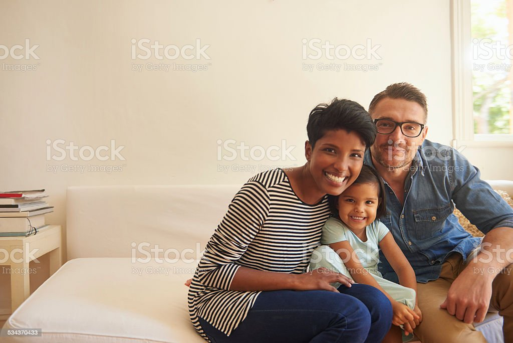 We're a happy family stock photo