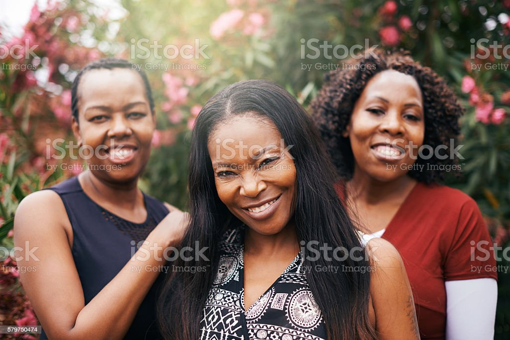 We're all about sisterly support stock photo