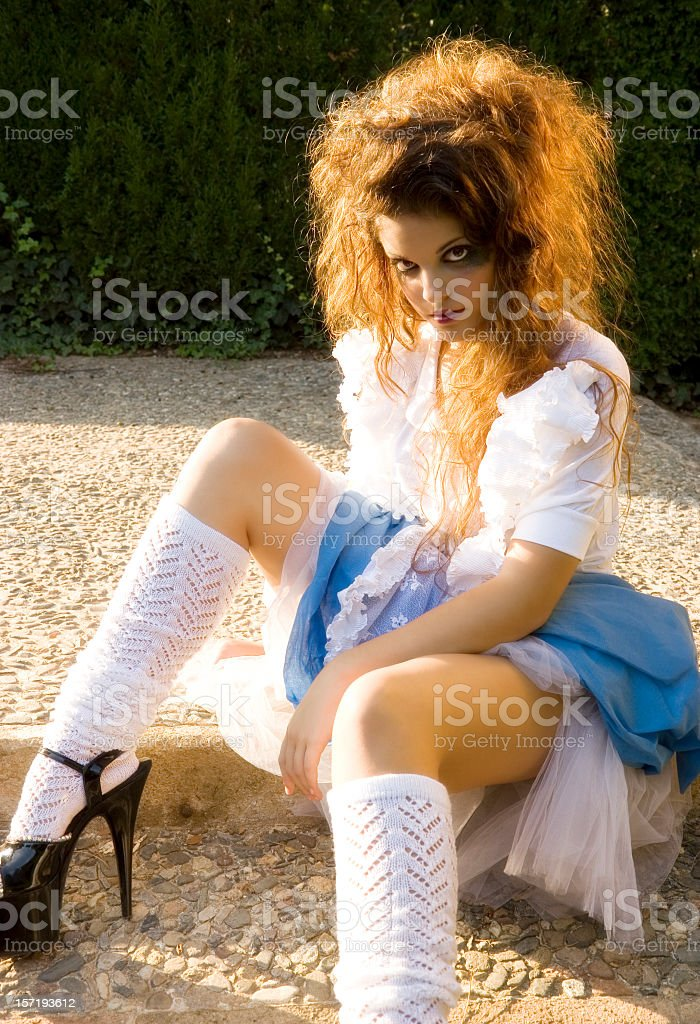 We're all mad here. stock photo