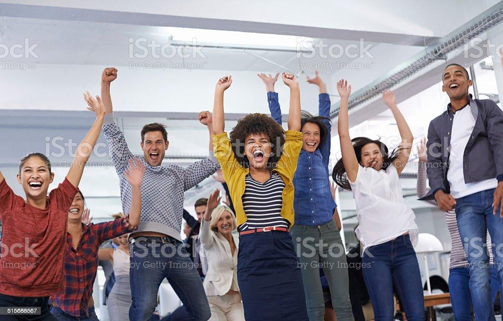 We're all winners stock photo