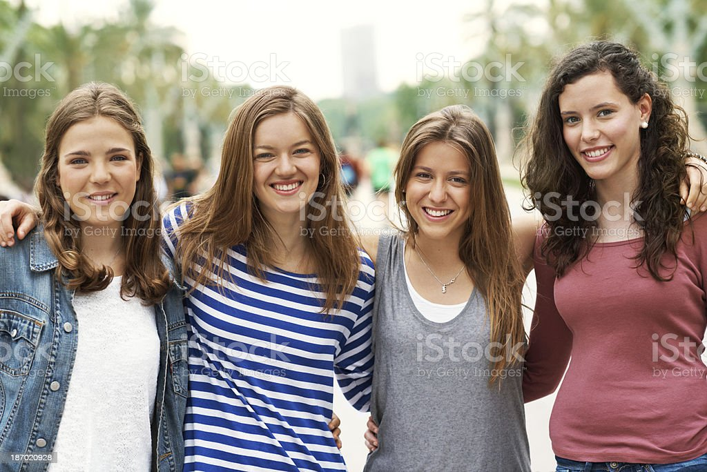 We're always going to be friends! stock photo